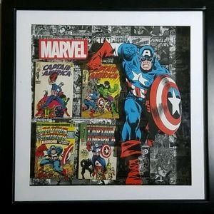 Captain America Shadowbox Wall Art